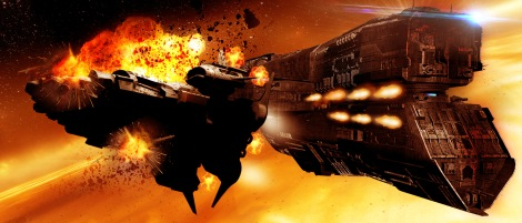 While the Shuriken are extremely agile starships they are often no match for the Katana's battery of guns.