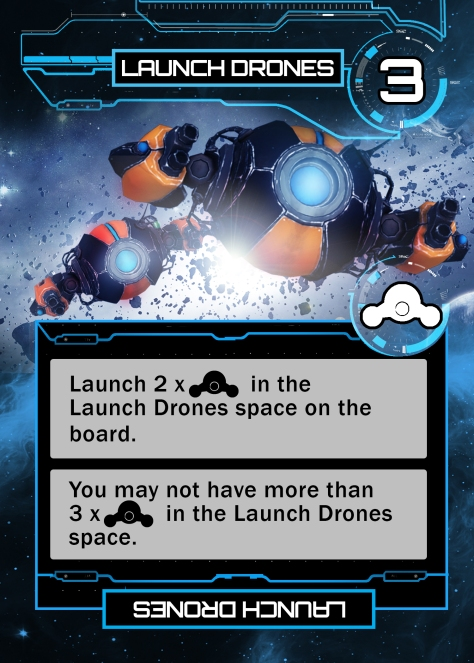 LAUNCH DRONES blue card